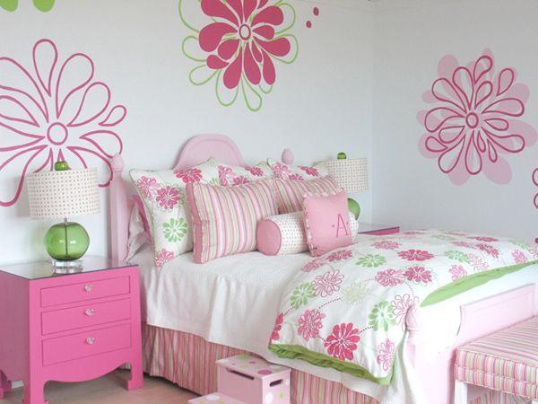 6zvetochnaya_strana3 10 kolorowych pomysłów na tematyczny pokój dla dwóch dziewczynek