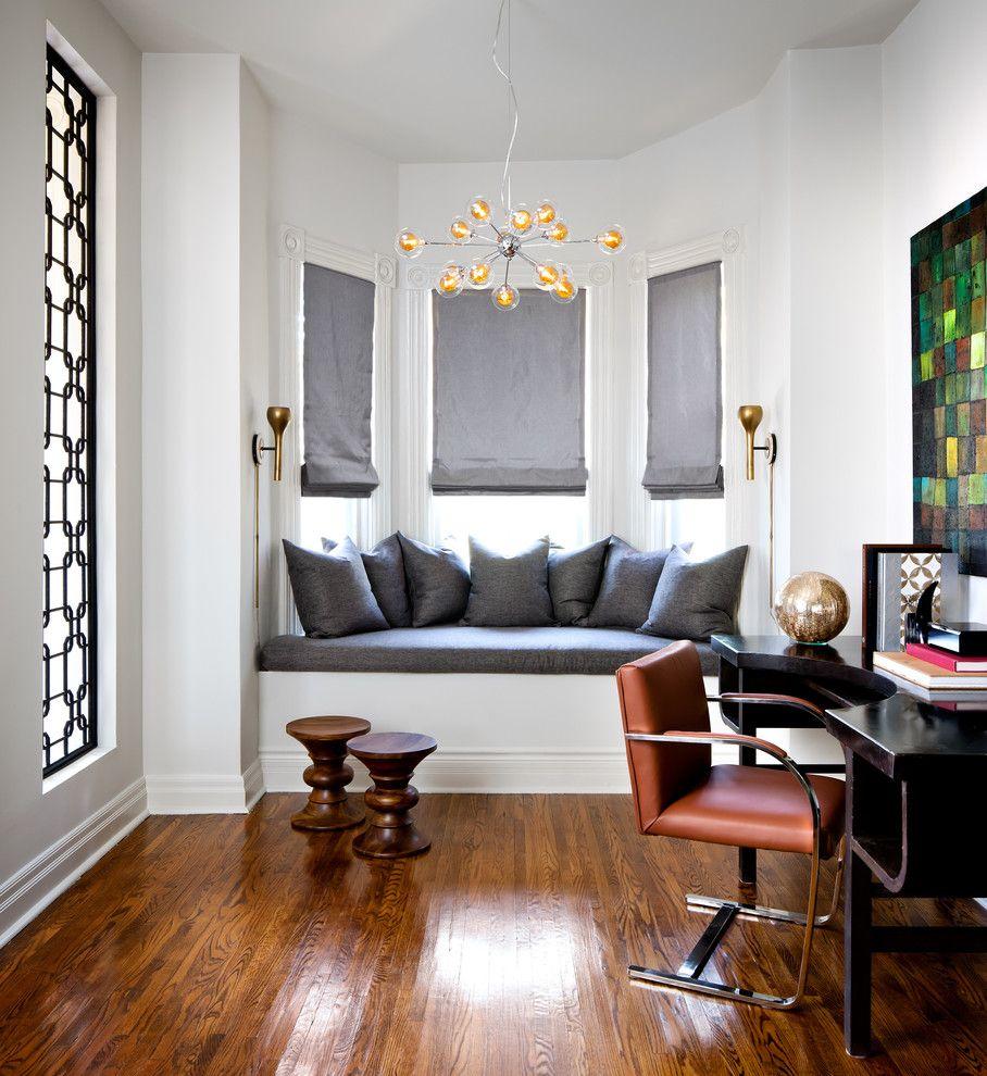 Настенные светильники в интерьере домашнего офиса