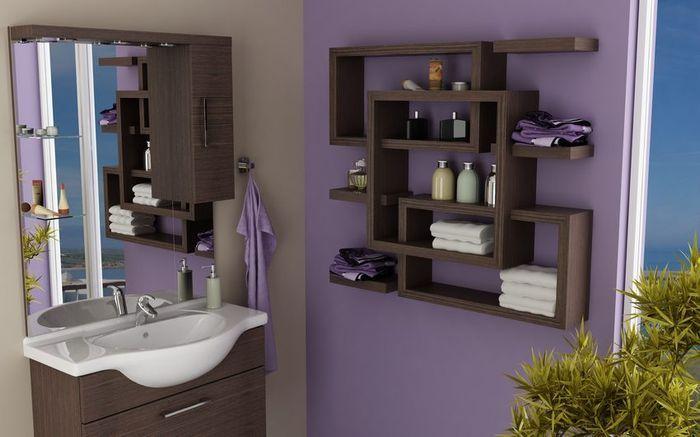 Półka łazienkowa labirynt