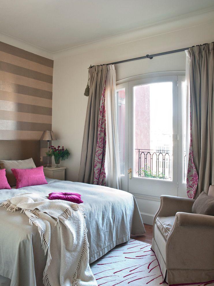 ściana akcentująca w sypialni