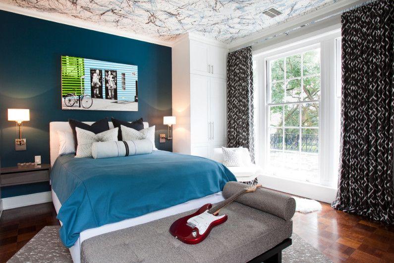 акцентна стена в спалнята
