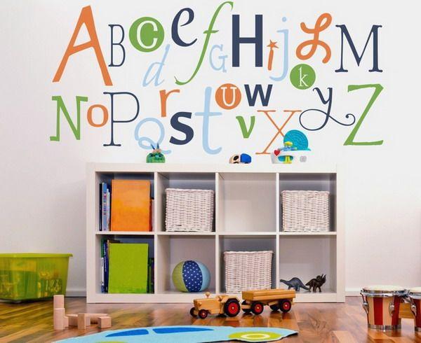 Aakkoset lastenhuoneessa