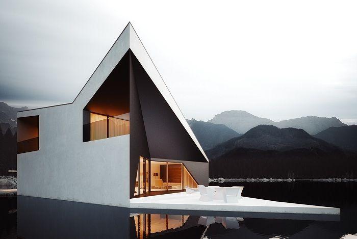 Crown House to koncepcja domu przypominającego futurystyczną koronę.