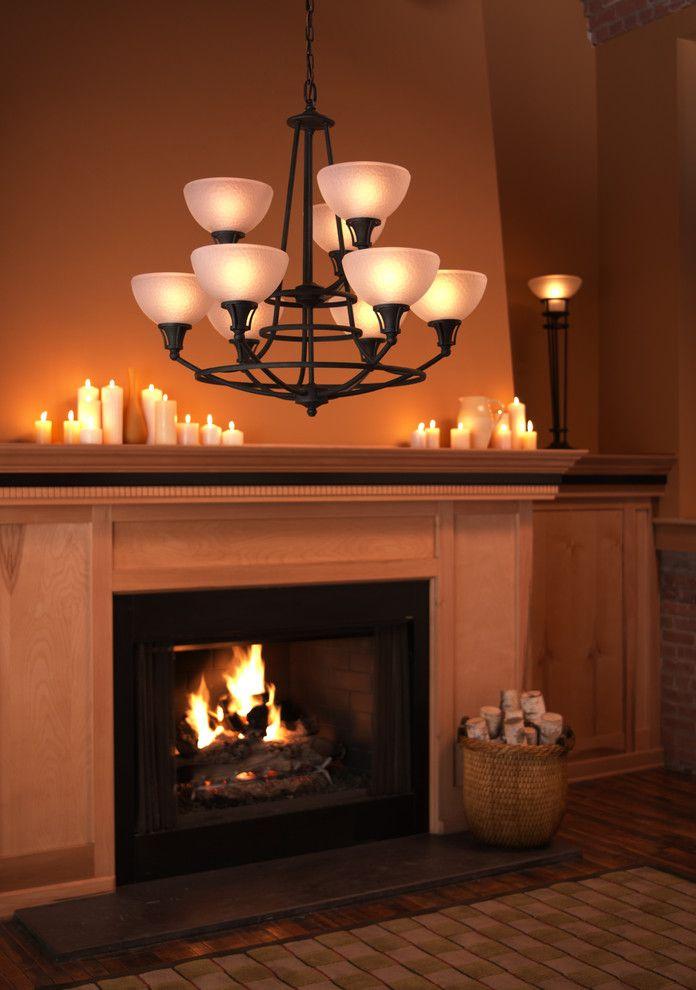 Свечи над камином в интерьере
