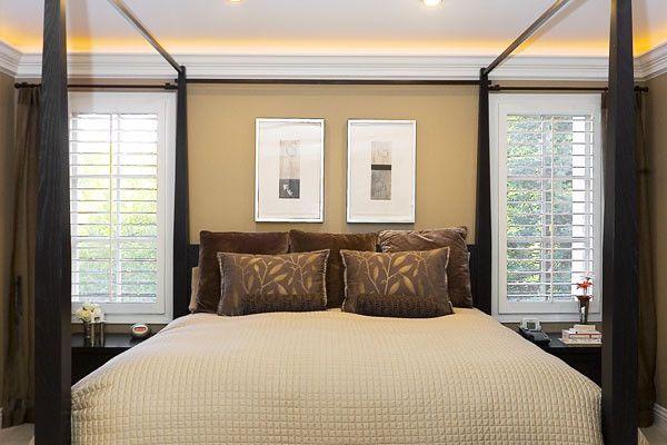 Креативное освещение спальной комнаты