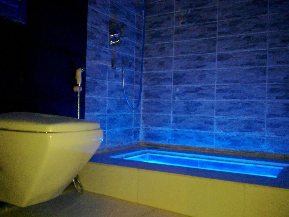 Неоновая подсветка ванны