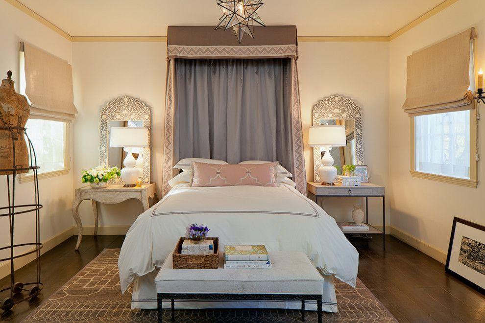 Настольные светильники в интерьере спальной комнаты