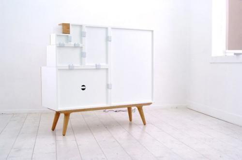 Модульный шкаф в белом исполнение