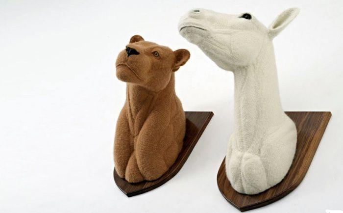 Kunstige dyrehoder vil være spesielt passende i det skandinaviske interiøret.