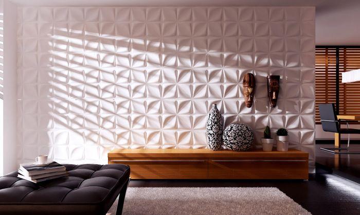 Volumetriske paneler i interiøret.