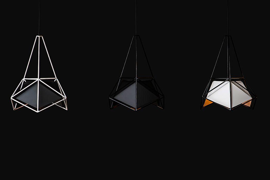 Подвесные светильники в геометрической форме