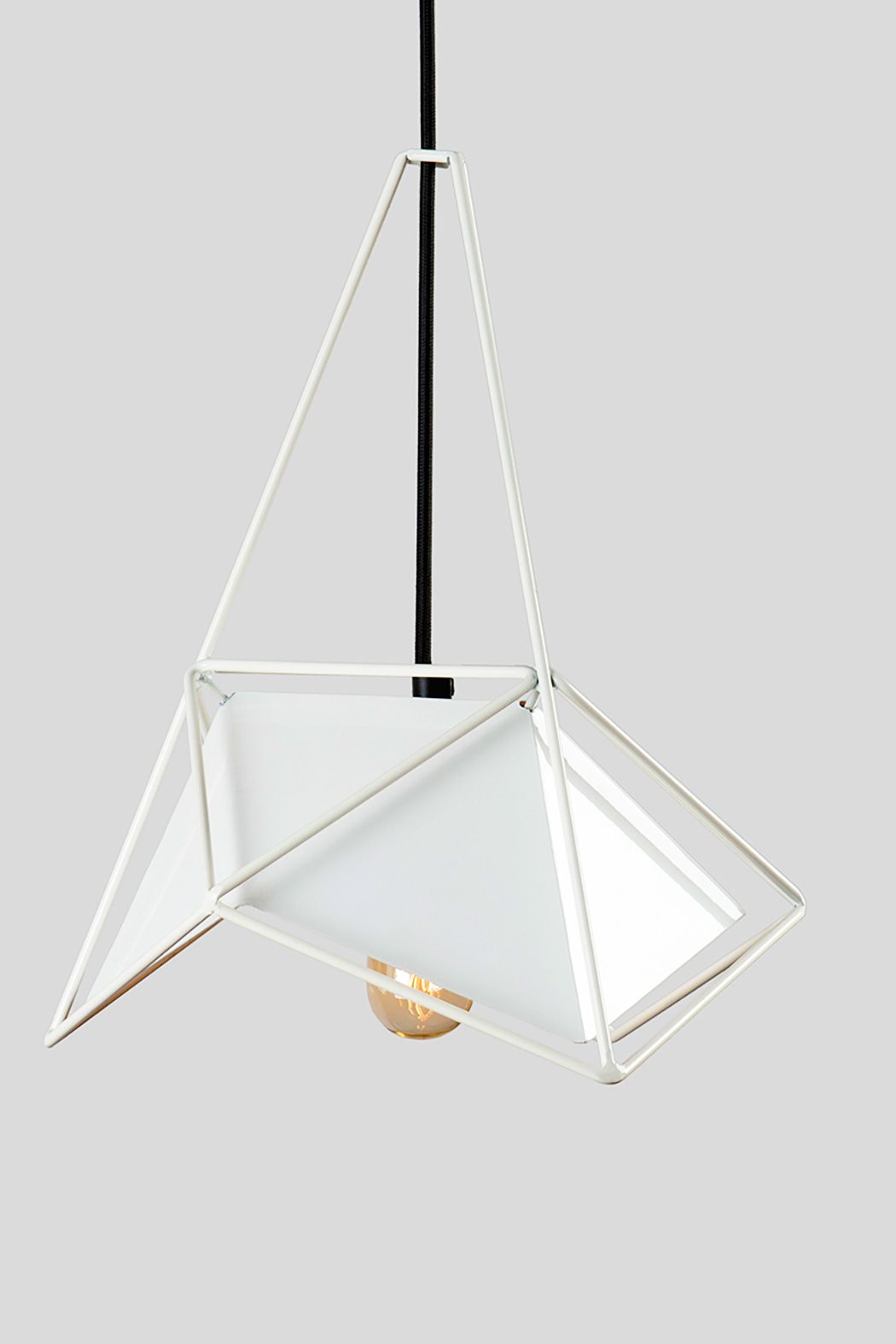 Белый подвесной светильник