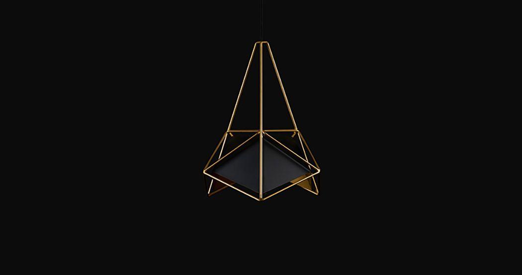 Геометрическая форма черного светильника