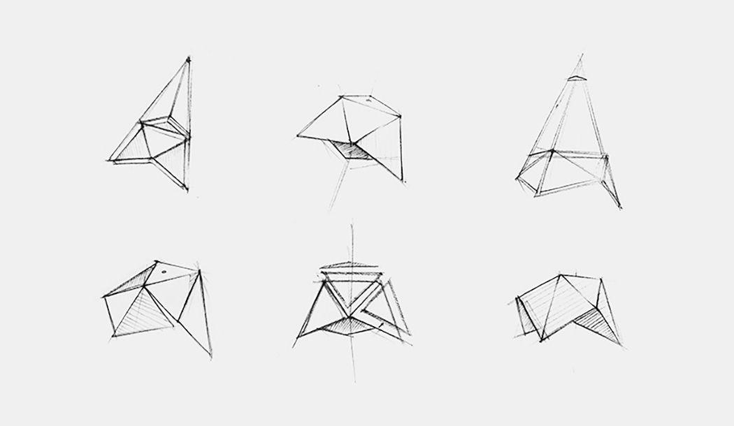 Схема подвесного светильника в геометрической форме