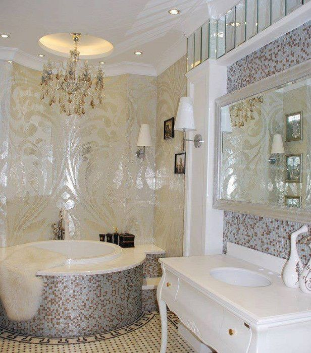 Ett bra alternativ att dekorera ett badrum med en söt mosaik som definitivt kommer att förändra interiören.