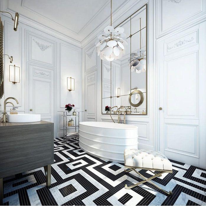 Doskonałe płytki w czerni i bieli w formie ładnej ozdoby, właśnie tego potrzebujesz.