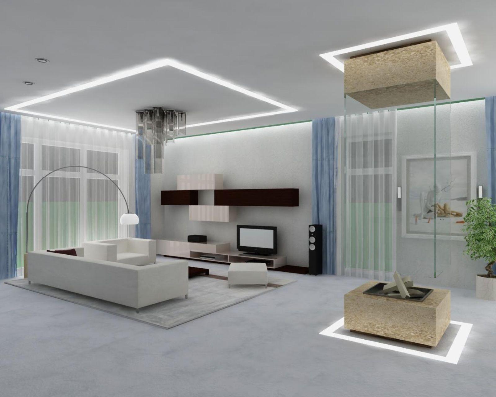 Светильники для интерьера гостиной в светлых тонах