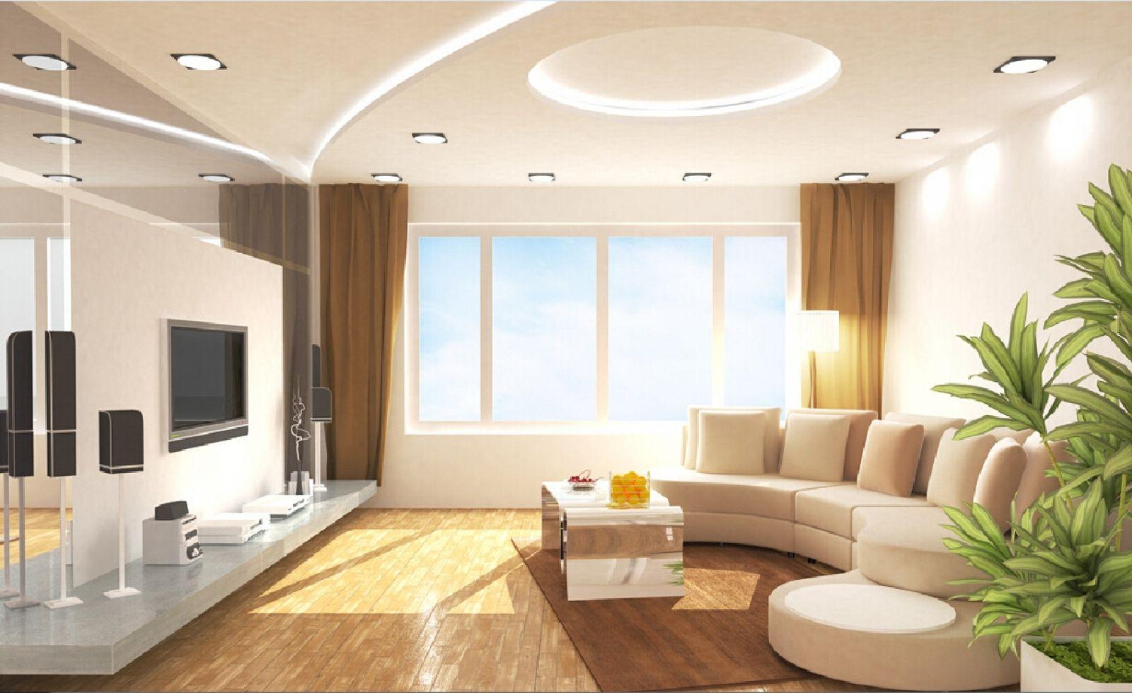 Светильники для гостиной: круглые светильники с металлической рамкой
