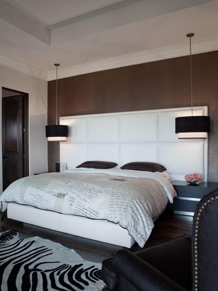 Чудесные подвесные люстры в интерьере спальни от Lizette Marie Interior Design