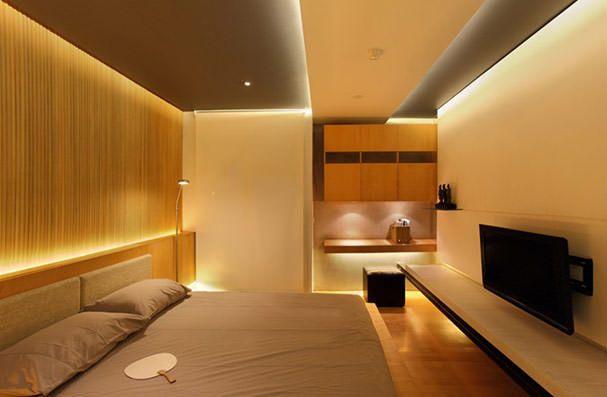 Декоративное освещение и подсветка спальной комнаты