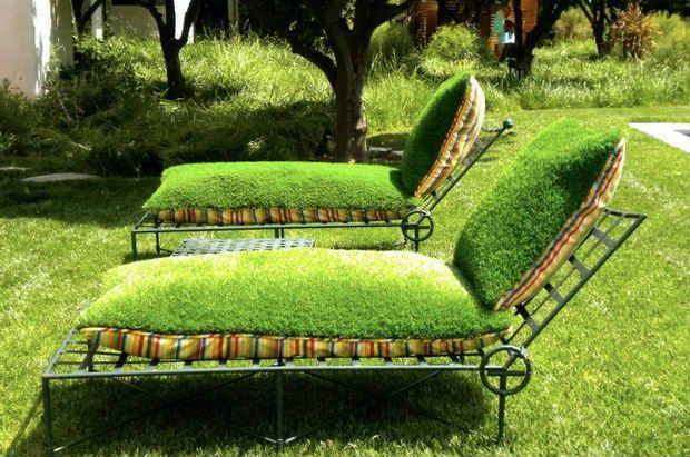 Ярко покритие на градински предмети от мъх