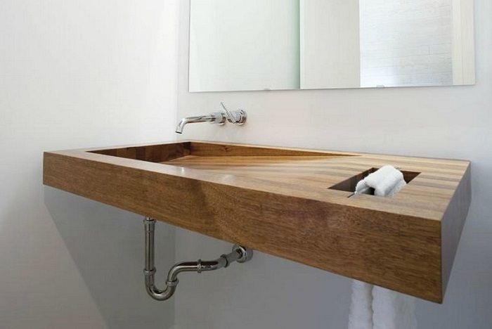 Оригинальное оформление раковины, что станет находкой и лучшим решением для ванной комнаты.