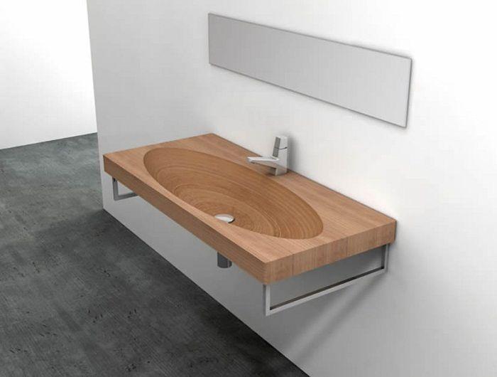 Крутое решение облагородить интерьер с помощью симпатичной деревянной раковины, что вдохновит и впечатлит.