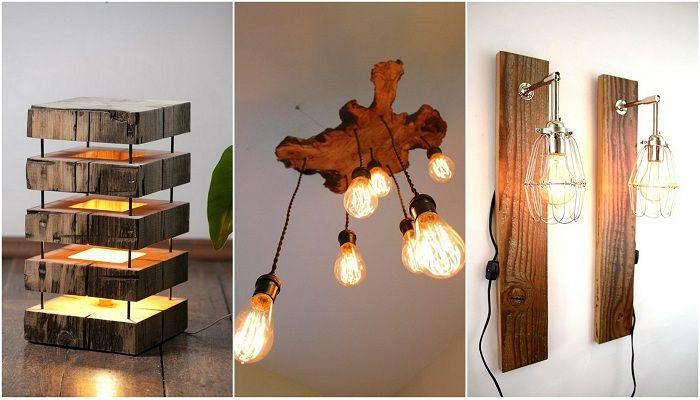 Оригинални дървени лампи, които просто ще станат връх на всеки интериор.