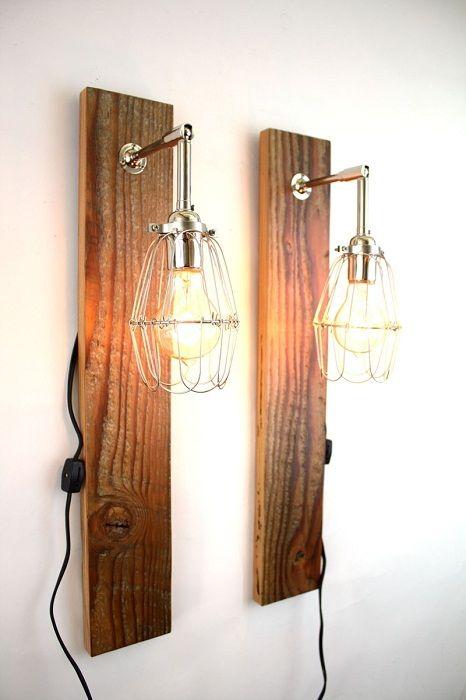 Интересен вариант за облагородяване на интериора с помощта на оригинални дървени лампи.