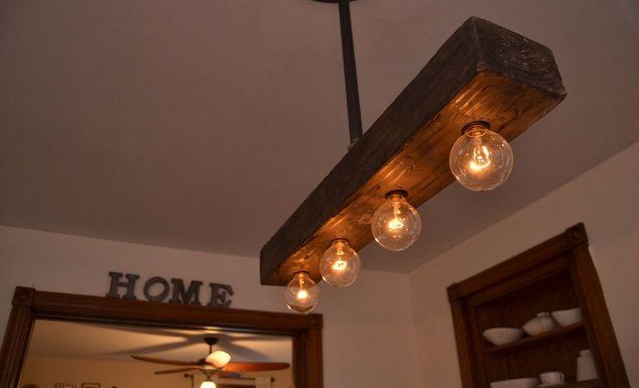 Симпатичная деревянная люстра, что понравится и станет просто лучшим решением.