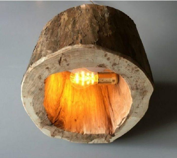 Лампа от рязане на дърво, което ще бъде божество и готино решение за интериора.