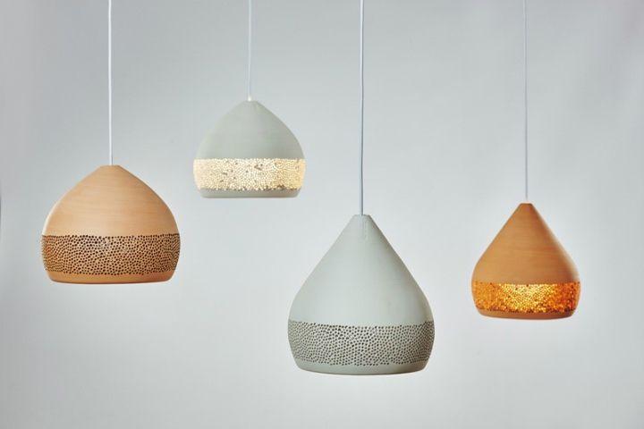 Разноцветные подвесные светильники куполообразной формы SpongeOh