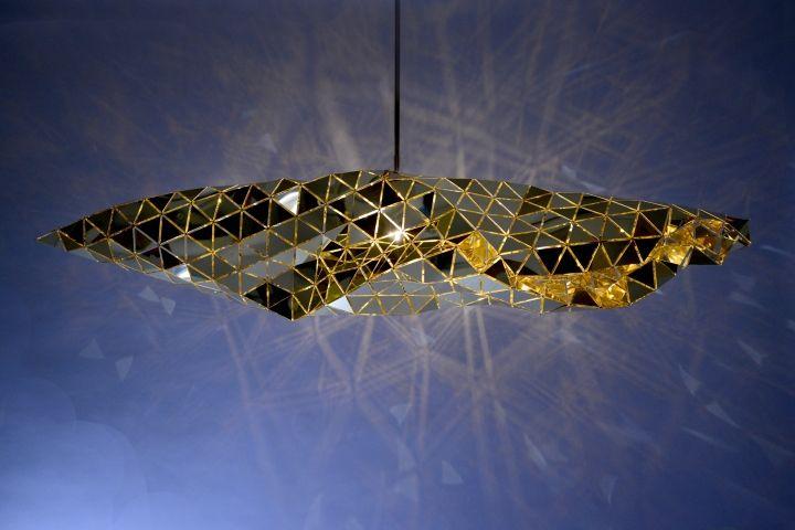 Дизайнерские светильники в золотистом цвете - Фото 1