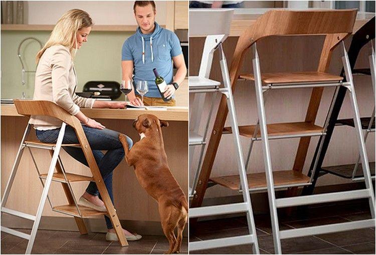 Удобен стол за стълба до масата