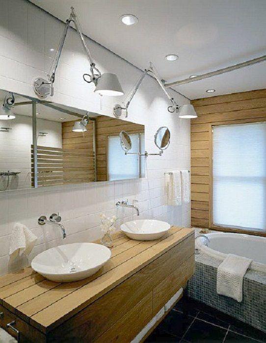 Szép és elegáns lehetőség a fürdőszoba olyan díszítésére, hogy ne vegye le a szemét.