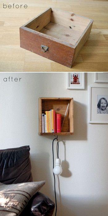 Et praktisk alternativ er å lage en så kul hylle på soverommet at du garantert vil like den.