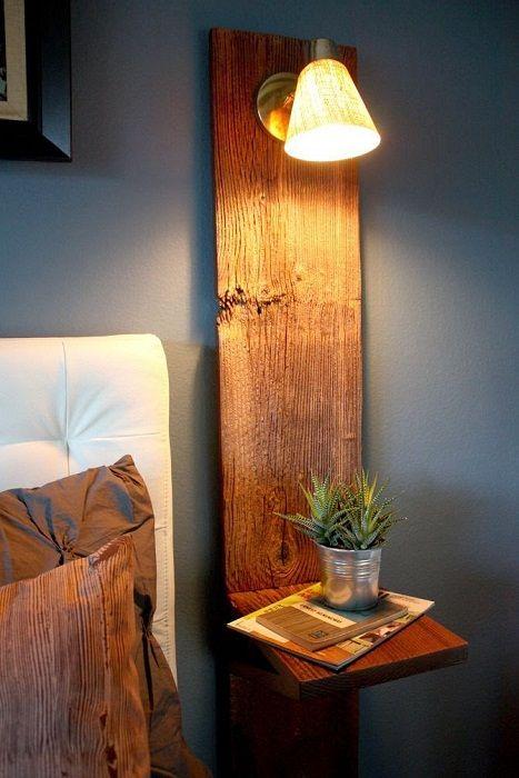 Et eksempel på utformingen av nattbordet i salongen.