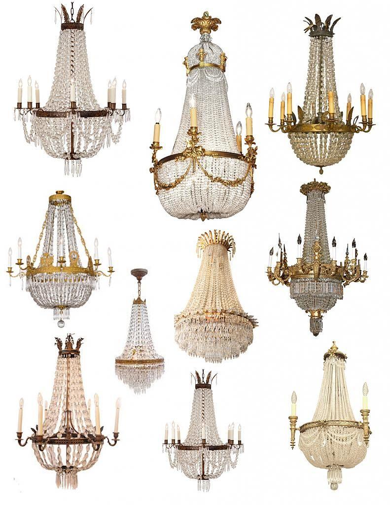 Красивые люстры в стиле French Empire