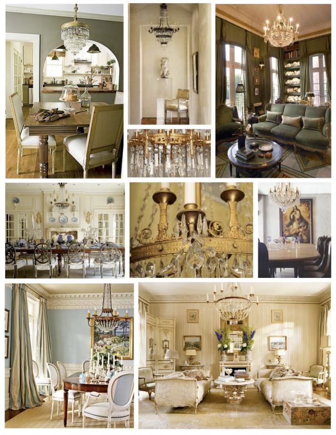 Кристални полилеи в стил френска империя