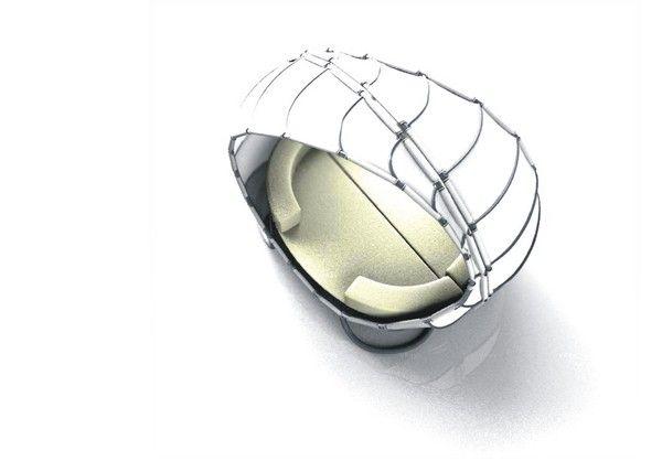Закрит шезлонг във формата на платно
