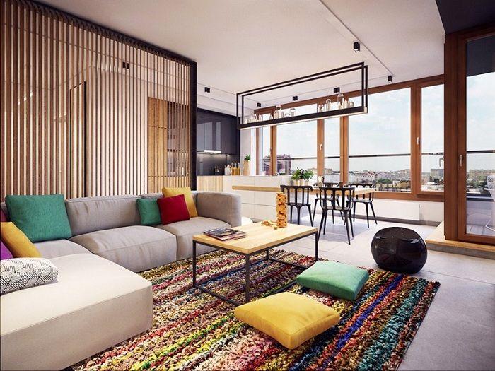 Alakítsa át a teret egy válaszfallal, ez a legjobb megoldás a belső tér optimalizálására.
