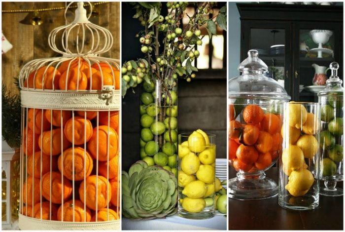 Композиции из фруктов.