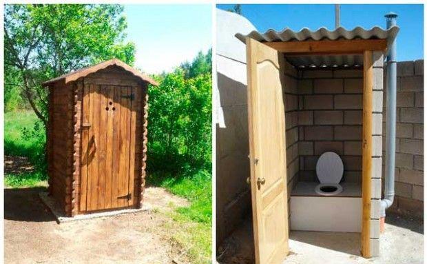 Туалет на даче своими руками: фото