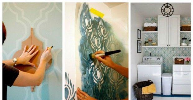 Трафареты для стен: шаблоны