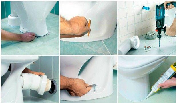 Инсталиране на тоалетна чиния на плочка