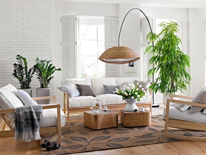 Żywe rośliny sprawią, że nawet dyskretne wnętrze stanie się romantyczne.