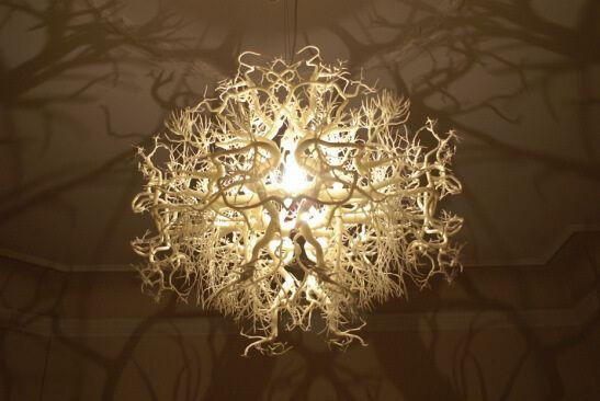 Подвесной светильник с ветвями. Фото 5