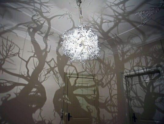 Подвесной светильник с ветвями. Фото 6