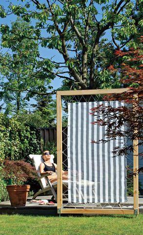 Екранен плат в градината