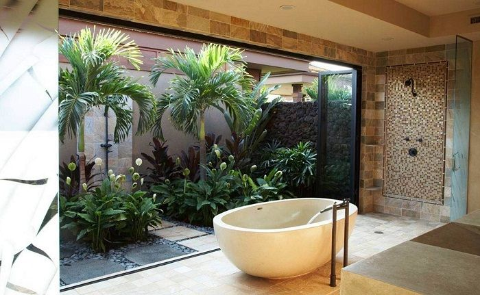 Много интересно решение за декориране на къщата отвътре благодарение на мини-градината.